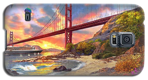 Sunset At Golden Gate Galaxy S5 Case by Dominic Davison
