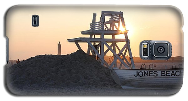 Sunset At Jones Beach Galaxy S5 Case by John Telfer