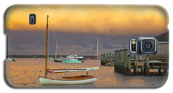 Sunset At Kennedy Compound Galaxy S5 Case by Amazing Jules