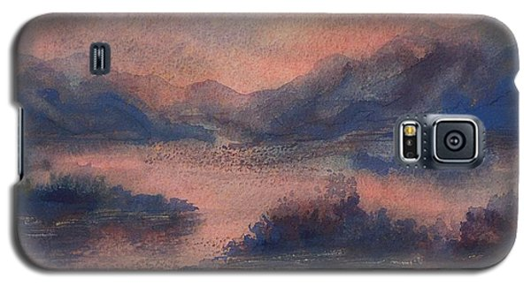 Galaxy S5 Case featuring the painting Sunset At Lake Champlain by Joy Nichols