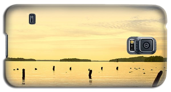 Galaxy S5 Case featuring the photograph Sunset At Lake Muskoka by Les Palenik