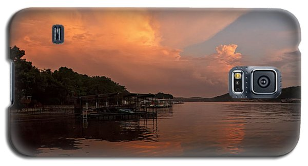 Sunset At Lake Of The Ozarks Galaxy S5 Case by Dennis Hedberg