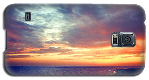 Sunset At Lido Key Galaxy S5 Case by Mariarosa Rockefeller