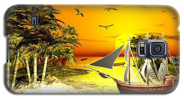 Sunset At Pirates Cove Galaxy S5 Case by Jacqueline Lloyd