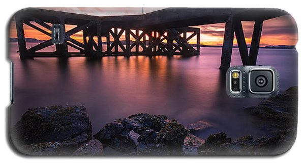 Sunset At Portencross Jetty Galaxy S5 Case