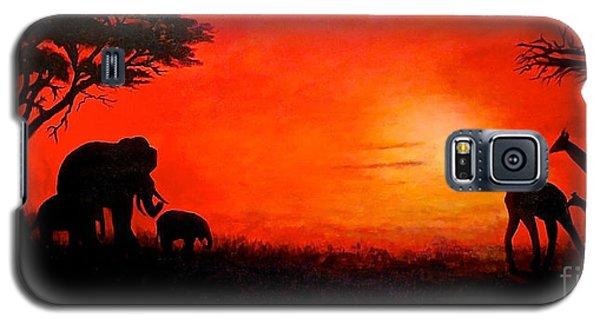 Sunset At Serengeti Galaxy S5 Case