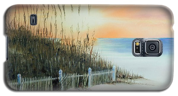 Sunset At The Beach Galaxy S5 Case by Chris Fraser