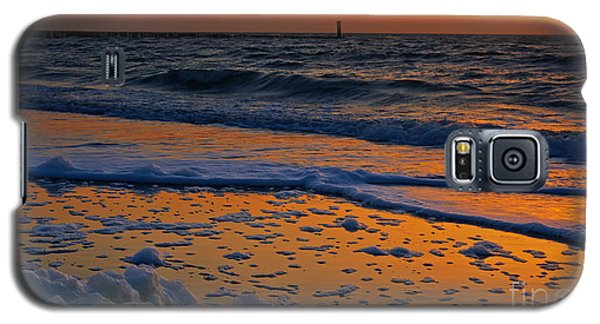 Galaxy S5 Case featuring the photograph Sunset At The Beach by Nick  Biemans