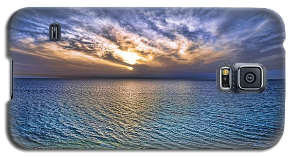 Sunset At The Cliff Beach Galaxy S5 Case