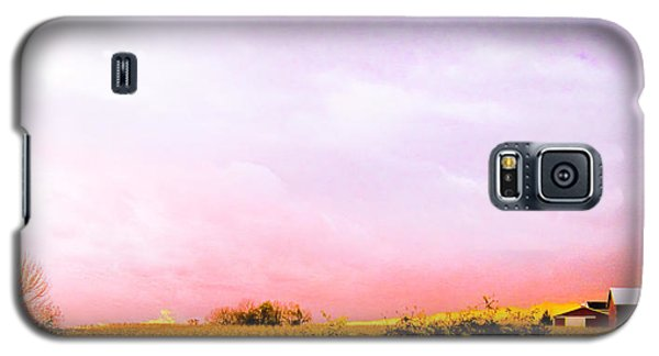 Galaxy S5 Case featuring the photograph Sunset At The Farm by Sara Frank
