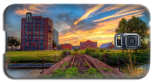 Sunset At The Imperial Sugar Factory Early Stage Landscape Galaxy S5 Case by Micah Goff