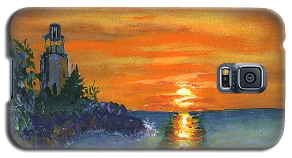 Sunset At The Lighthouse Galaxy S5 Case