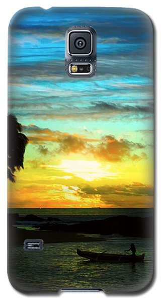 Galaxy S5 Case featuring the photograph Sunset At The Luau by Kara  Stewart