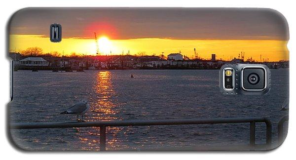 Sunset At The Manasquan Inlet Galaxy S5 Case by Melinda Saminski