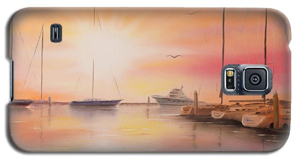 Sunset At The Marina Galaxy S5 Case by Chris Fraser