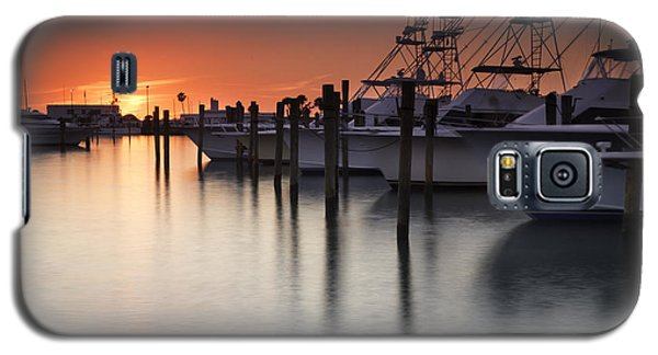 Sunset At The Pelican Yacht Club Galaxy S5 Case