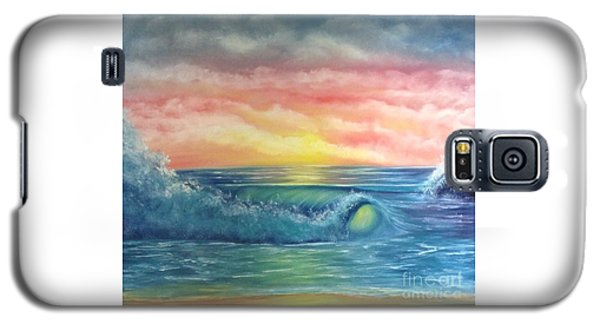 Sunset At The Seashore  Galaxy S5 Case by Becky Lupe