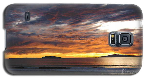 Galaxy S5 Case featuring the photograph Sunset At The Shores by Janice Westerberg