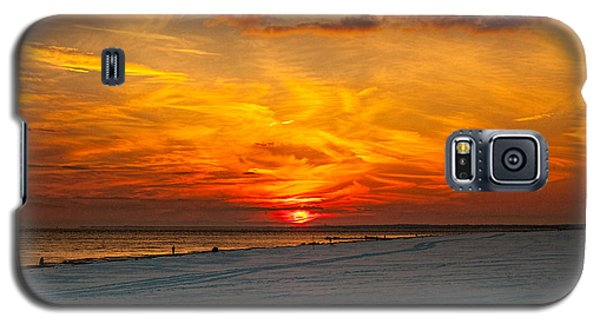 Galaxy S5 Case featuring the photograph Sunset Beach New York by Chris Lord