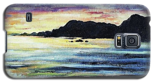 Galaxy S5 Case featuring the painting Sunset Beach by Shana Rowe Jackson