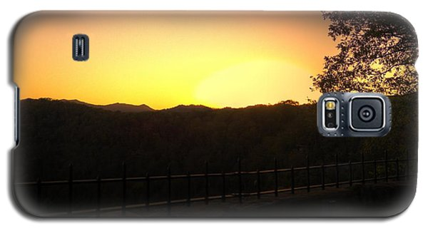 Galaxy S5 Case featuring the photograph Sunset Behind Hills by Jonny D