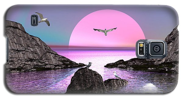 Sunset Birds In Flight Galaxy S5 Case by Jacqueline Lloyd