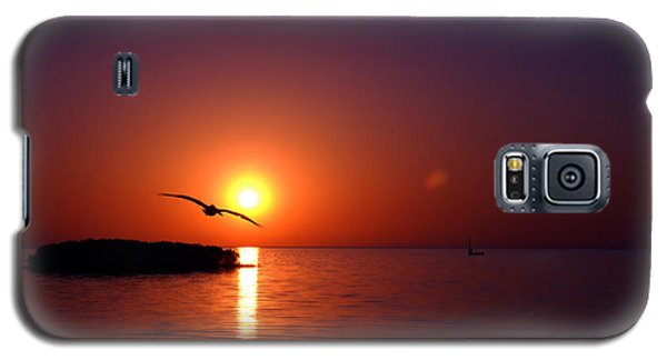 Sunset Blue Galaxy S5 Case by Beverly Stapleton
