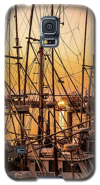 Sunset Boat Masts At Dock Morro Bay Marina Fine Art Photography Print Sale Galaxy S5 Case
