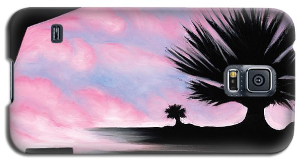Galaxy S5 Case featuring the painting Sunset Boulevard Dreams by Tiffany Davis-Rustam