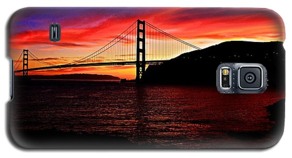 Galaxy S5 Case featuring the photograph Sunset By The Bay by Dave Files