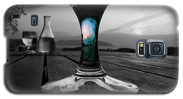 Galaxy S5 Case featuring the photograph Sunset Cafe by Micki Findlay