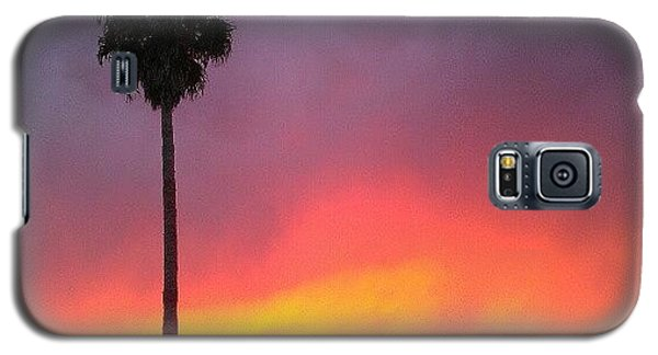 Orange Galaxy S5 Case - Sunset California by CML Brown
