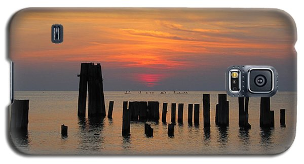 Galaxy S5 Case featuring the photograph Sunset Cape Charles by Richard Reeve