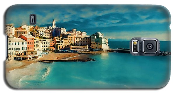 Galaxy S5 Case featuring the painting Sunset Cinque Terre by Douglas MooreZart