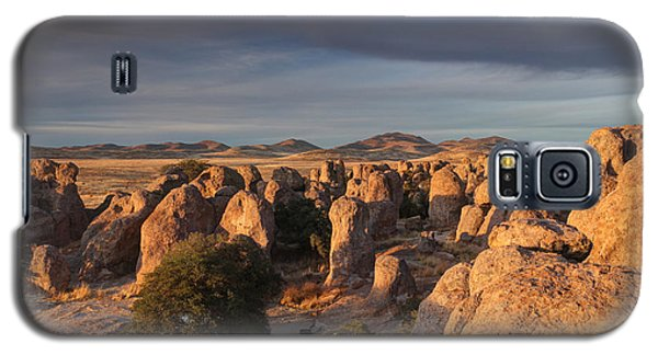 Galaxy S5 Case featuring the photograph Sunset City Of Rocks by Martin Konopacki
