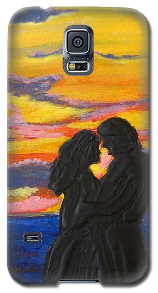 Sunset Couple Galaxy S5 Case