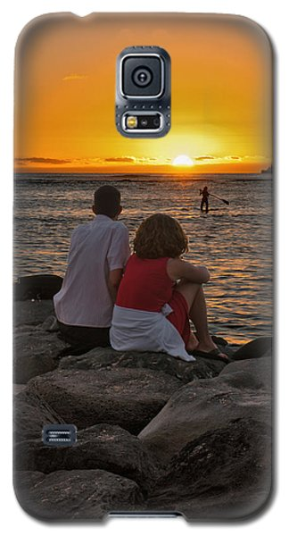 Galaxy S5 Case featuring the photograph Sunset Moment by John Swartz
