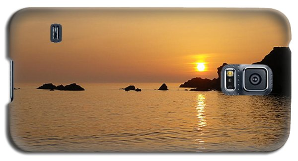 Sunset Crooklets Beach Bude Cornwall Galaxy S5 Case by Richard Brookes