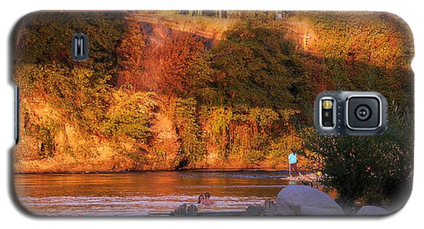 Galaxy S5 Case featuring the photograph Sunset Dip by Melanie Lankford Photography