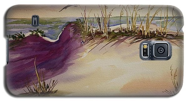 Galaxy S5 Case featuring the painting Sunset Dunes by Roxanne Tobaison