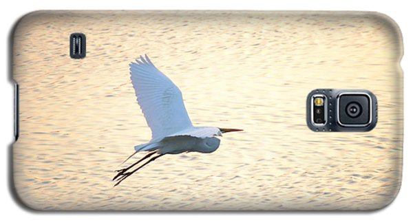 Galaxy S5 Case featuring the photograph Sunset Flight by Carol  Bradley