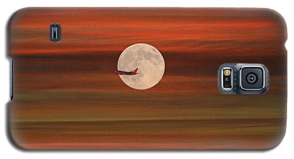 Sunset Flight With Full Moon Galaxy S5 Case