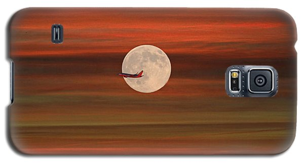 Sunset Flight With Full Moon Galaxy S5 Case by Donna Kennedy