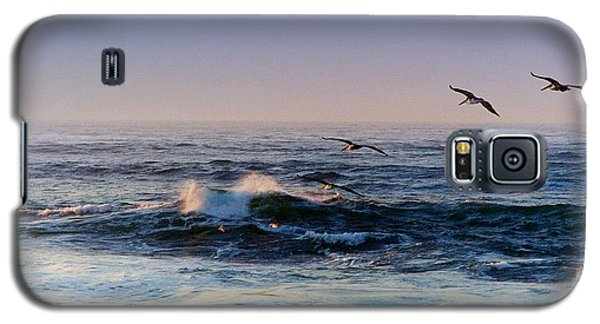 Galaxy S5 Case featuring the photograph Sunset Fly by Kathy Bassett