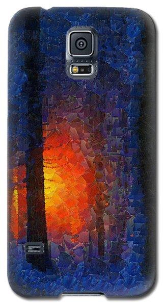 Sunset Forest Winter Galaxy S5 Case by Georgi Dimitrov