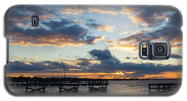 Galaxy S5 Case featuring the photograph Sunset From The Fishing Piers by Jose Oquendo