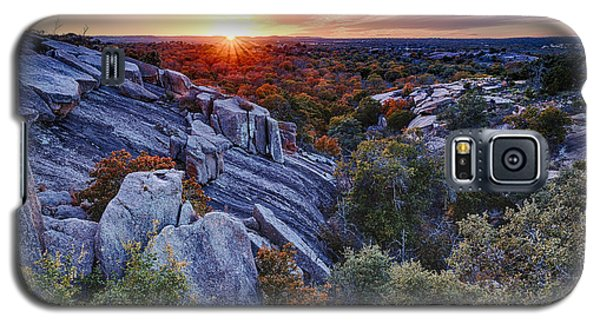 Sunset From The Top Of Little Rock At Enchanted Rock State Park - Fredericksburg Texas Hill Country Galaxy S5 Case