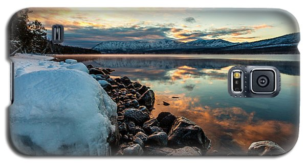 Sunset Frozen Galaxy S5 Case by Aaron Aldrich