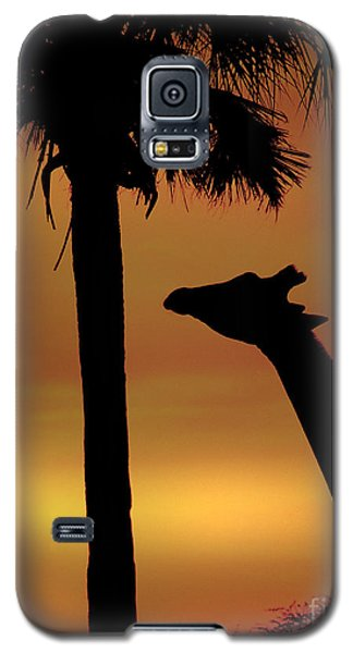 Sunset Giraffe 2 Galaxy S5 Case
