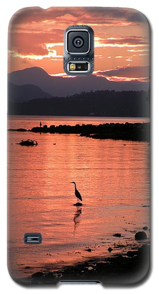 Sunset Heron Galaxy S5 Case
